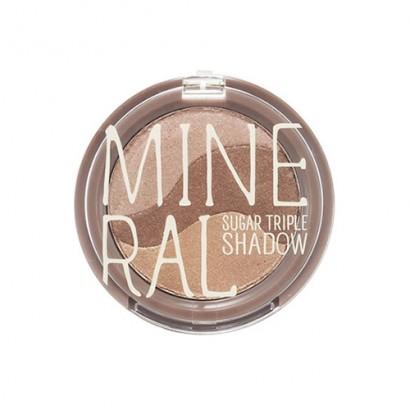 Минеральные тени для глаз Mineral Sugar Triple Shadow #2 Baking Brown, 3.8