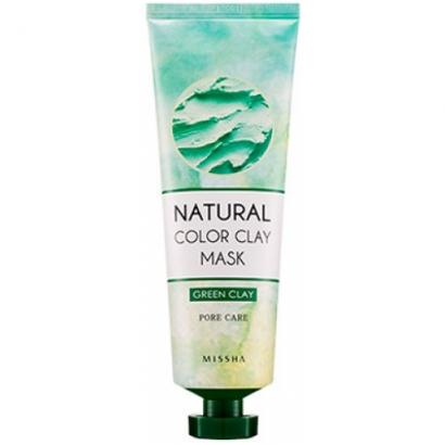 Глиняная маска для лица Natural Color Clay Mask Green Pore care, 137