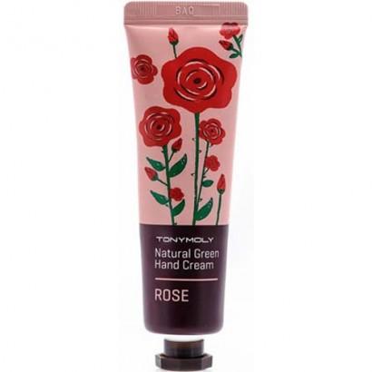 Tony Moly Питательный крем для рук с экстрактом розы Natural Green Hand Cream Rose, 30