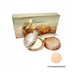 "The Gold Ray:D Cake Foundation 23, 14g +14 g (refill) / Крем-пудра ""Золотая серия"", оттенок натуральный беж"