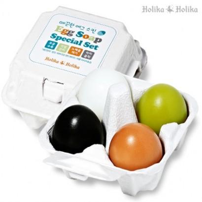 Мыло-маска для очищения кожи Egg Soap Special Set (50G*4), 4х50г