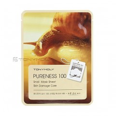 Tony Moly Тканевая маска с фильтратом улитки Pureness 100 Snail Mask Sheet Skin Damage Care