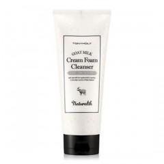 Tony Moly Пенка увлажняющая на основе козьего молока/ Naturalth Goat Milk Cream Foam Cleanser