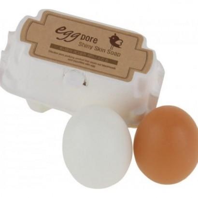 Tony Moly Очищающее мыло для сужения пор на основе яичного белка Egg Pore Shiny Skin Soap, 90