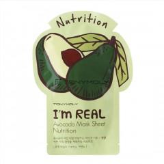 Tony Moly Тканевая питательная маска с экстрактом авокадо I'm Real Avocado Mask Sheet Nutrition