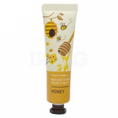 Tony Moly Питательный крем для рук с экстрактом меда/ Natural Green Hand Cream Honey, 30