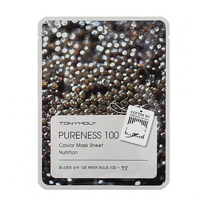 Tony Moly Подтягивающая маска с экстрактом черной икры Pureness 100 Caviar Mask Sheet Nutrition, 21