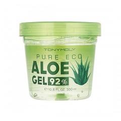 Tony Moly Многофункциональный увлажняющий гель с натуральным соком алое вера 92%/Pure Eco Aloe Gel 92%