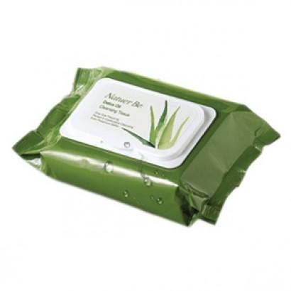 Natuer Be Detox Oil Cleansing Tissue / Влажные салфетки на основе натуральных растительных компантетов, 310гр