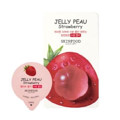 Увлажняющая витаминная маска для лица Jelly Peau Fruits Mask Wash Off Strawberry, 10