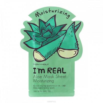 Tony Moly Увлажняющая маска с экстрактом алоэ I'm Real Aloe Mask Sheet Moisturizing, 21