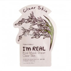 Tony Moly Тканевая маска для лица с экстрактом риса I'm Real Rice Mask Sheet Clear Skin