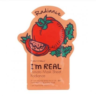 Tony Moly Тканевая маска для лица с экстрактом томатов I'm Real Tomato Mask Sheet Radiance, 21