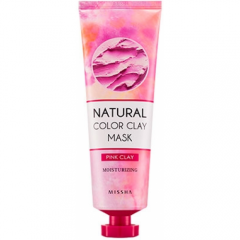 Глиняная маска для лица 137гр Natural Color Clay Mask Pink Moisturizing