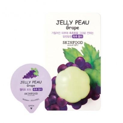 Увлажняющая витаминная маска для лица Jelly Peau Fruits Mask Wash Off Grape, 10