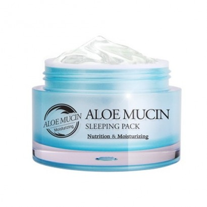 Aloe Mucin Sleeping Pack / Ночная маска с экстрактом улитки и  алоэ, 50мл