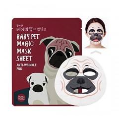 Маска с мордочкой мопса против морщин Baby Pet Magic Mask Sheet (Pug)