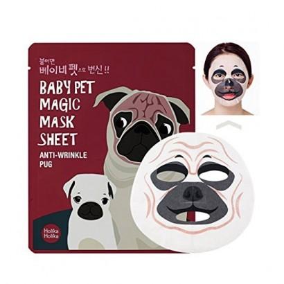 Маска с мордочкой мопса против морщин Baby Pet Magic Mask Sheet (Pug), 22