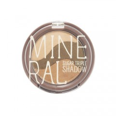 Минеральные тени для глаз Mineral Sugar Triple Shadow #3 Yellow Khaki