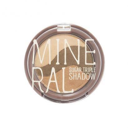Минеральные тени для глаз Mineral Sugar Triple Shadow #3 Yellow Khaki, 3.8