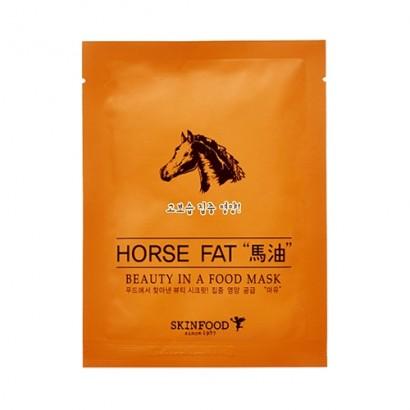 Тканевая маска с конским жиром Beauty In A Food Mask Sheet Horse Fat, 18