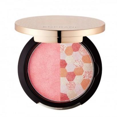 Delicate Radiance Multi Duo 01 Pink Blending / Запеченые румяна-хайлайтер, оттенок Розовое сочетание, 9г