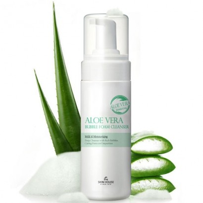 Aloe Vera Bubble Foam Cleanser / Пенка для лица с экстрактом алоэ, 150мл
