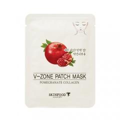 Укрепляющая маска для зоны подбородка с экстрактом граната Pomegranate Collagen V-Zone Patch Mask