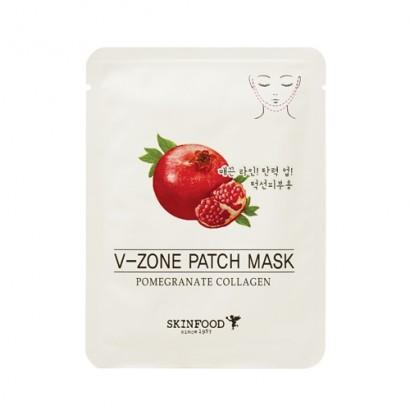 Укрепляющая маска для зоны подбородка с экстрактом граната Pomegranate Collagen V-Zone Patch Mask, 15