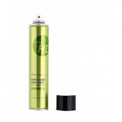 Tony Moly Лак для волос сильной фиксации с аргановым маслом Make HD Super Hard Spray, 300