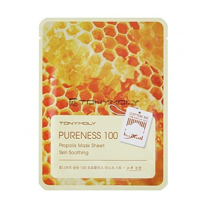 Tony Moly Успокаивающая маска с прополисом Pureness 100 Propolis Mask Sheet Skin Soothing, 21