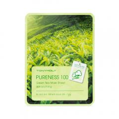 Tony Moly Маска успокаивающая с экстрактом зеленого чая Pureness 100 Green Tea Mask Sheet