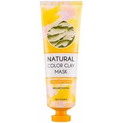 Глиняная маска для лица  Natural Color Clay Mask Yellow Brightening, 137