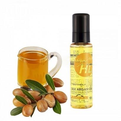 Tony Moly Интенсивное средство для восстановления волос c аргановым маслом Make HD Silk Argan Oil, 85