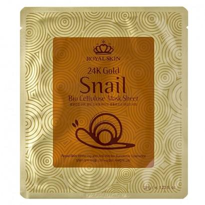 24K Gold Snail Bio Cellulose Mask Sheet / Маска от морщин с экстрактом улиточной слизи, 35гр